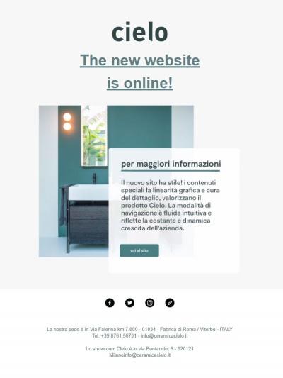 New website<br />25/10/2018
