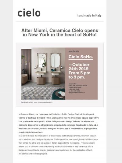 Apertura Cielo SoHo<br />24/10/2019