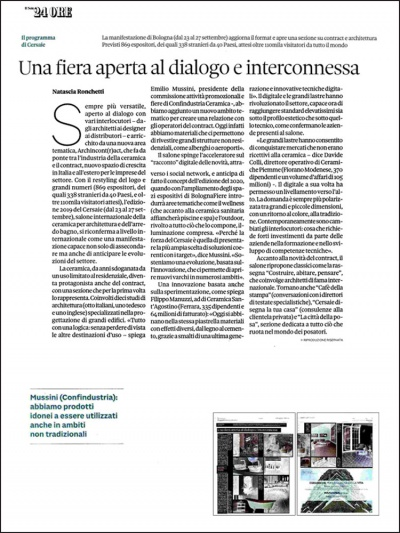 <span>Il Sole 24 Ore</span><br /><span>September 2019</span>