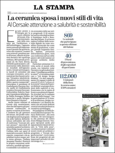 La Stampa<br />Settembre 2019