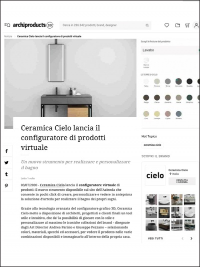 Archiproducts.com<br />Luglio 2020