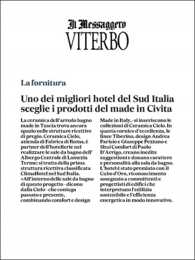Il Messaggero Viterbo<br />November 2020