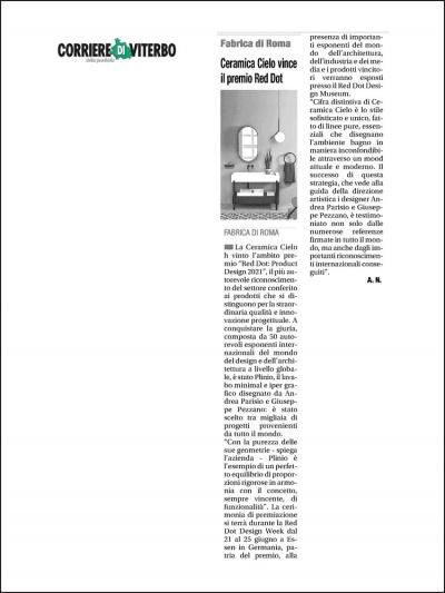 Corriere di Viterbo<br />April 2021