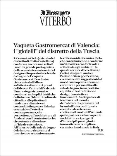 Il Messaggero di Viterbo<br />июнь 2021