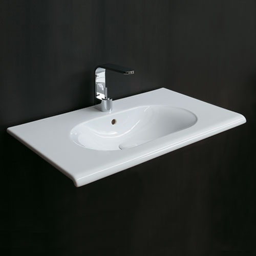 Wall-hung washbasin 100