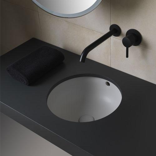 Undercounter round washbasin
