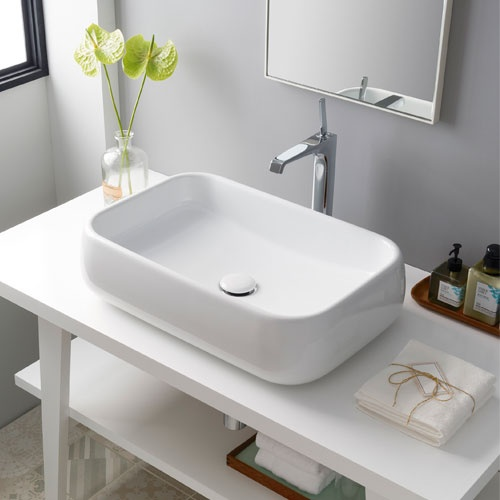 Rectangular on top washbasin 60