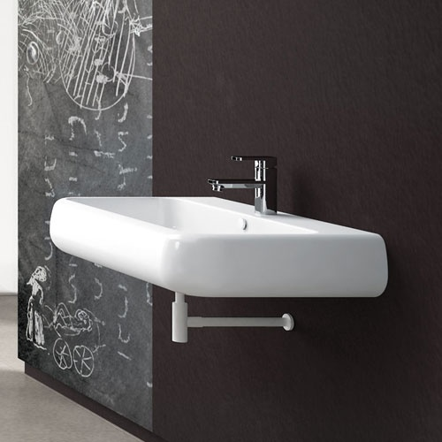 Wall-hung or on top washbasin 80