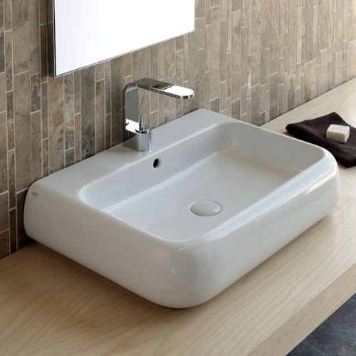 Wall-hung or on top washbasin 66