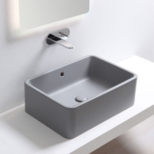 Rectangular on top washbasin 60 with overflow