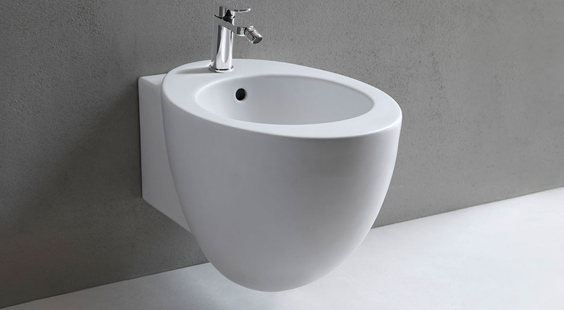 Reverse shape wall-hung one hole bidet