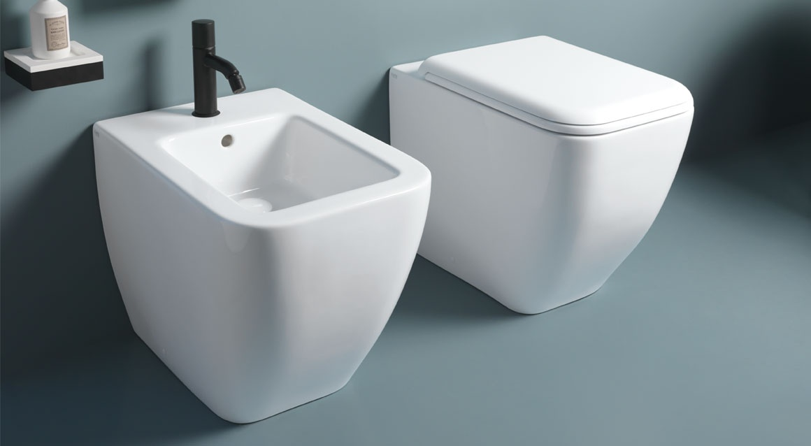 Back to wall one hole bidet