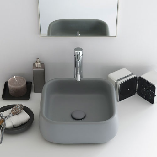 Rectangular on top washbasin 40