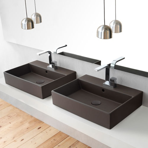 Rectangular washbasin 60