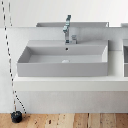Rectangular washbasin 80