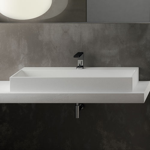 Rectangular washbasin 100
