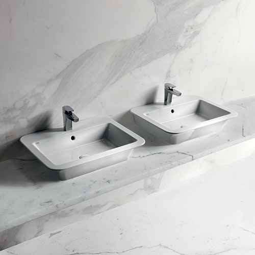 Washbasin 64 with tap hole