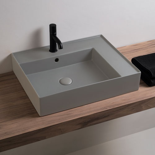 Wall-hung rectangular washbasin 60