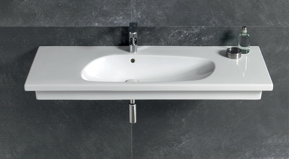 Wall-hung or on top washbasin 120