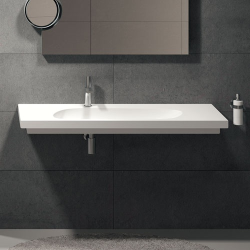 Wall-hung or on top washbasin 140