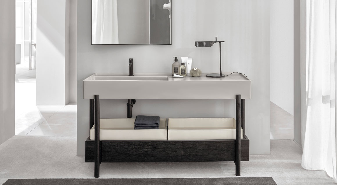 Plinio washbasin with cabinet