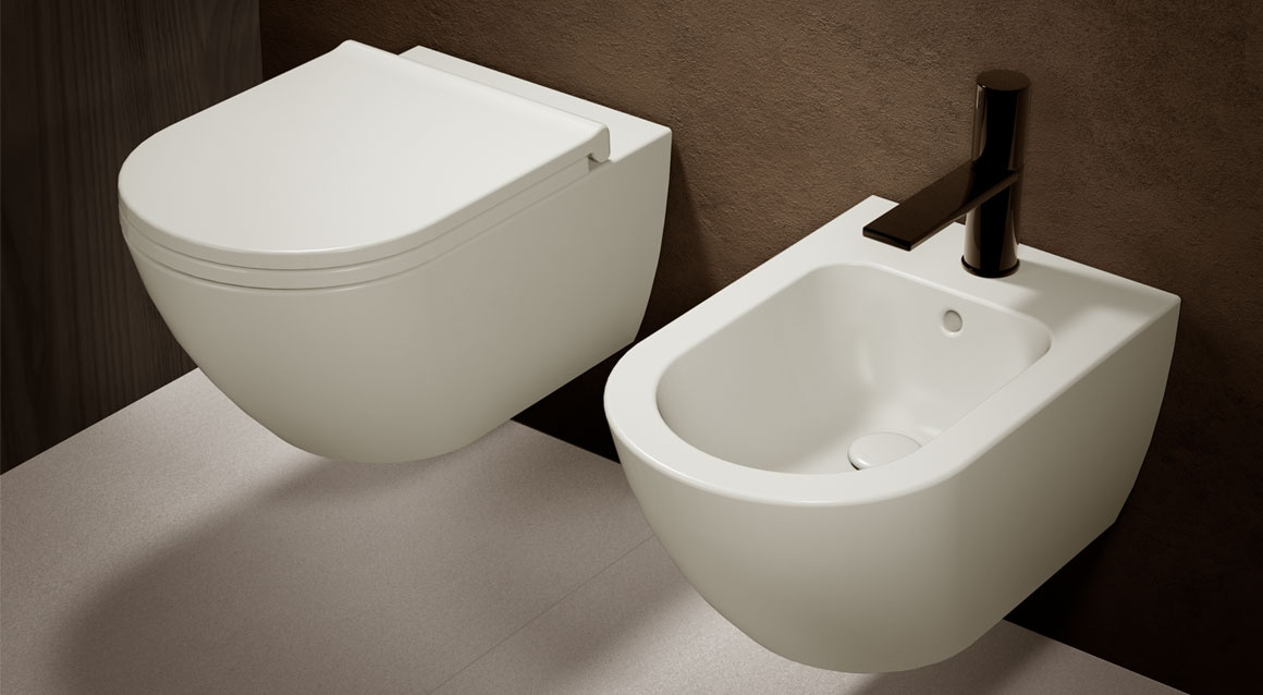 Wall-hung rimless toilet