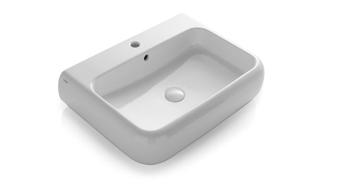 Wall-hung or on top washbasin 66