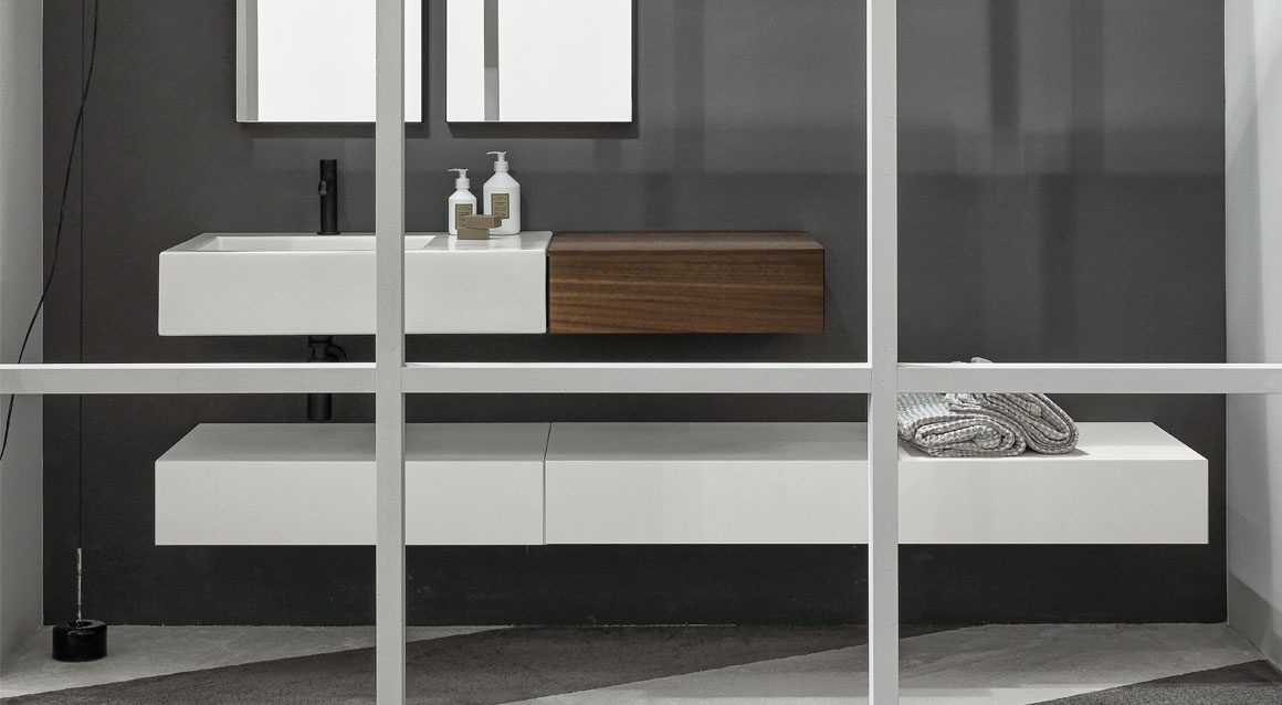 Modulo with Narciso Mini washbasin