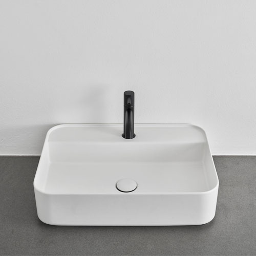 Shui Comfort rectangular washbasin, with one hole