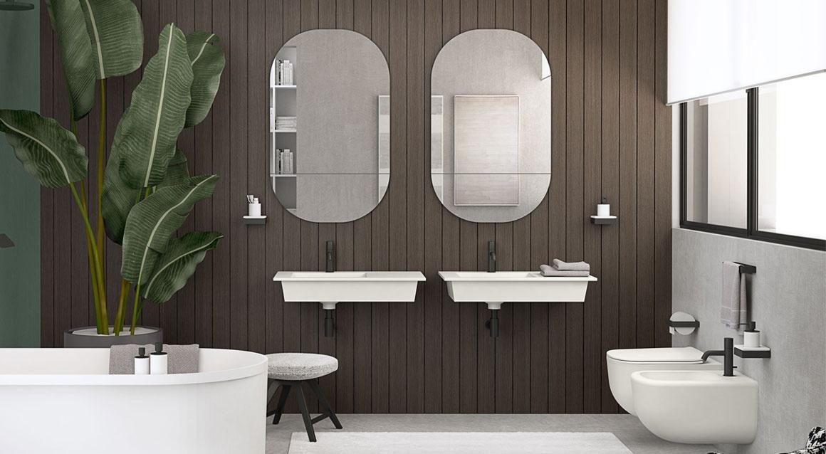 Wall-hung washbasin 45