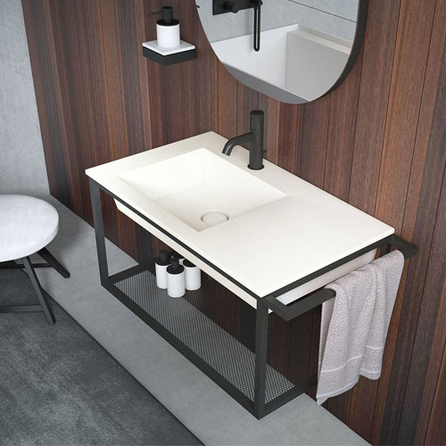 Wall-hung washbasin 60