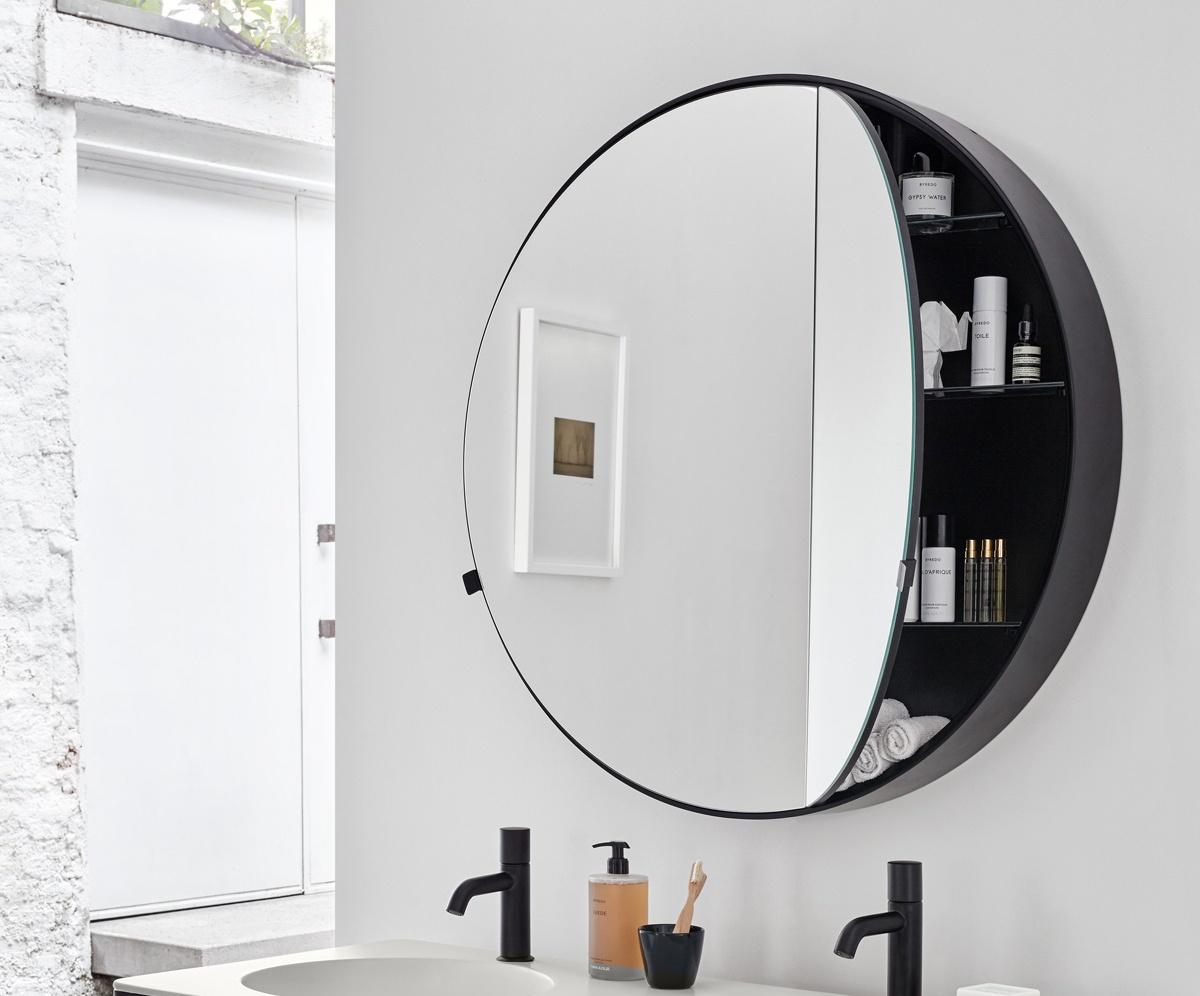 Round Box mirror 75