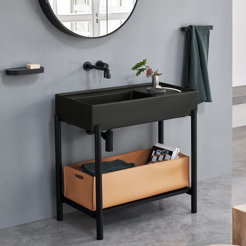 Plinio 85 washbasin with cabinet