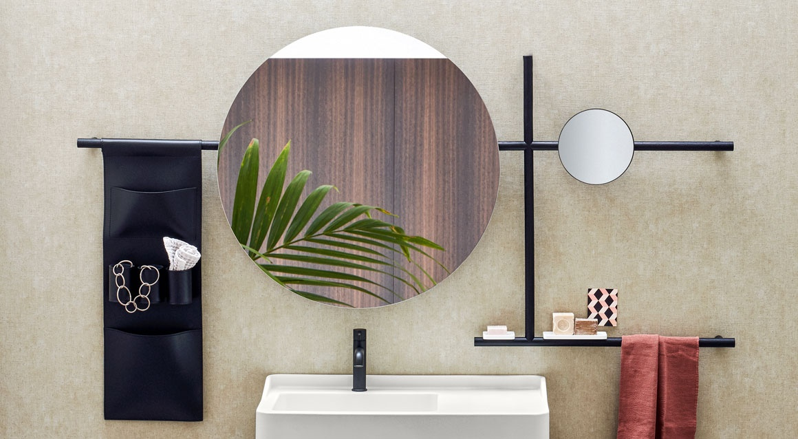round mirror composition