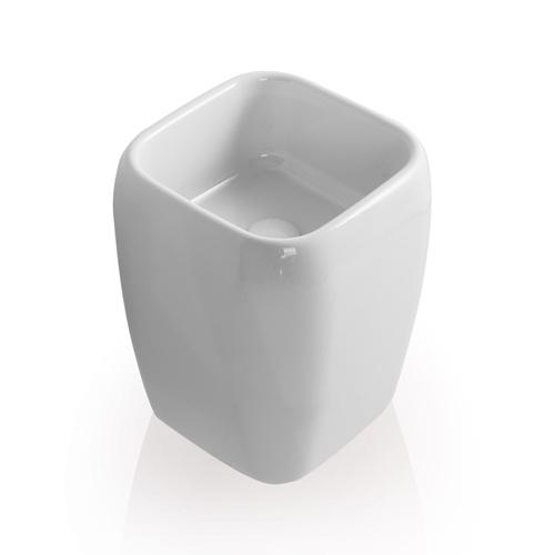 Half pedestal washbasin - on top installation