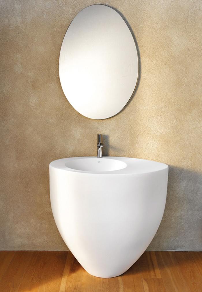 Freestanding washbasin - Talco, and Le Giare mirror
