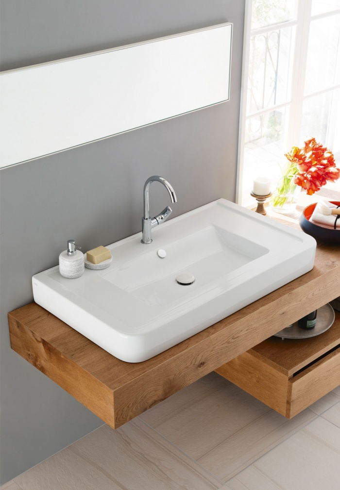 Consolle 100 washbasin Gloss White.