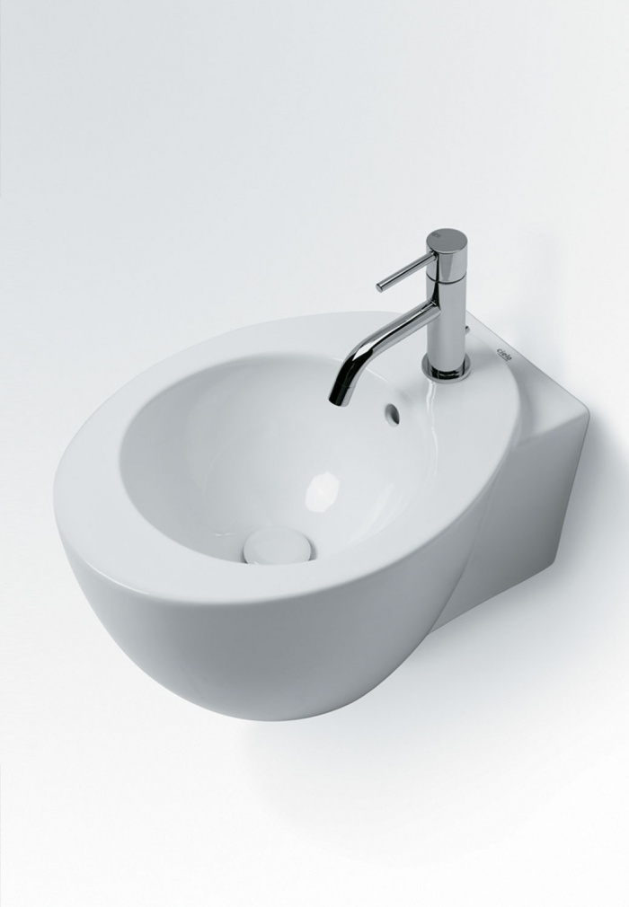 Wall-hung washbasin 34 - glossy white