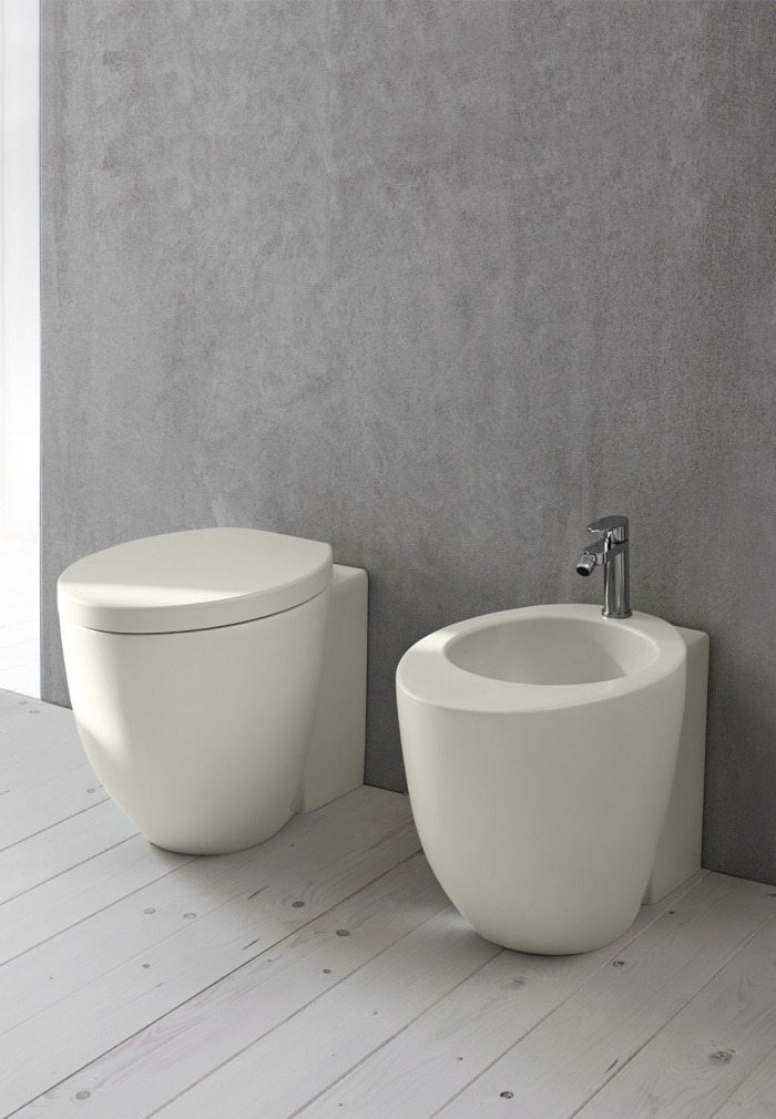 Back to wall wc and bidet - Pomice