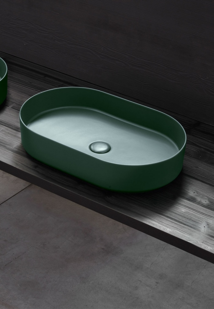 Oval washbasin 60 - Muschio
