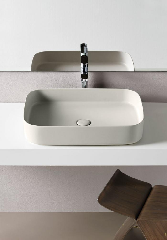 Rectangular washbasin 60 - Pomice