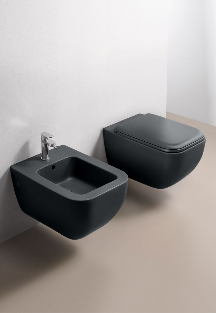 Wall-hung wc and bidet - Basalto
