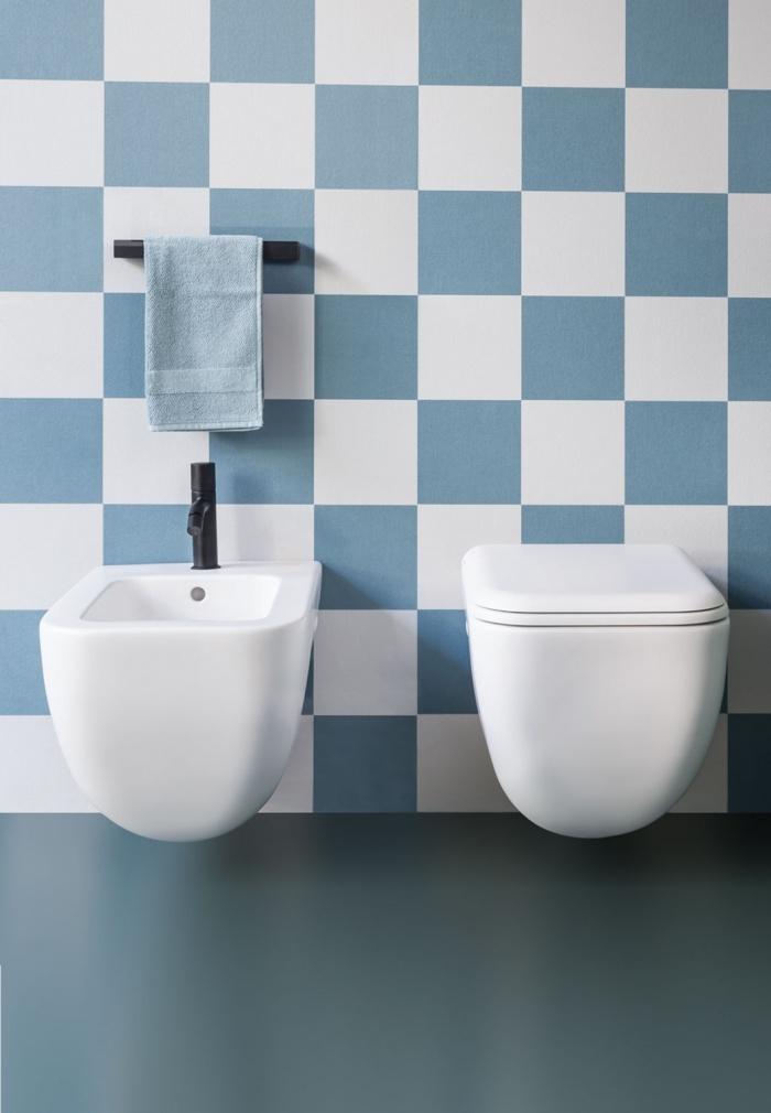Wall-hung bidet and wc rimless - Talco