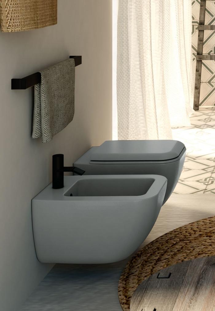 Wall-hung wc and bidet - Brina