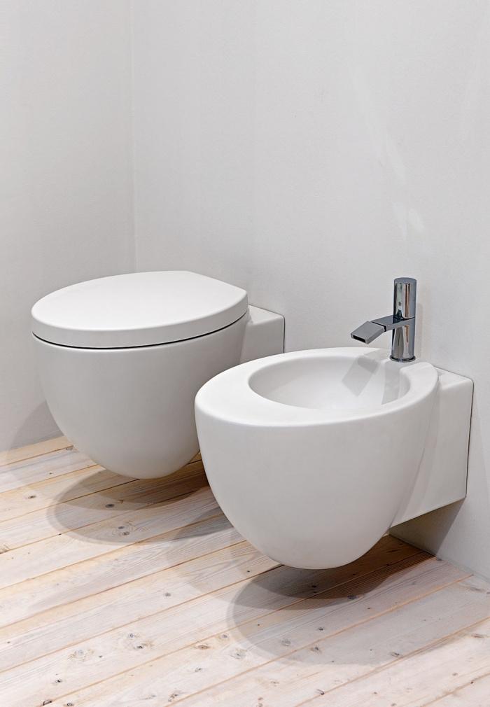 Wall-hung wc and bidet - Talco