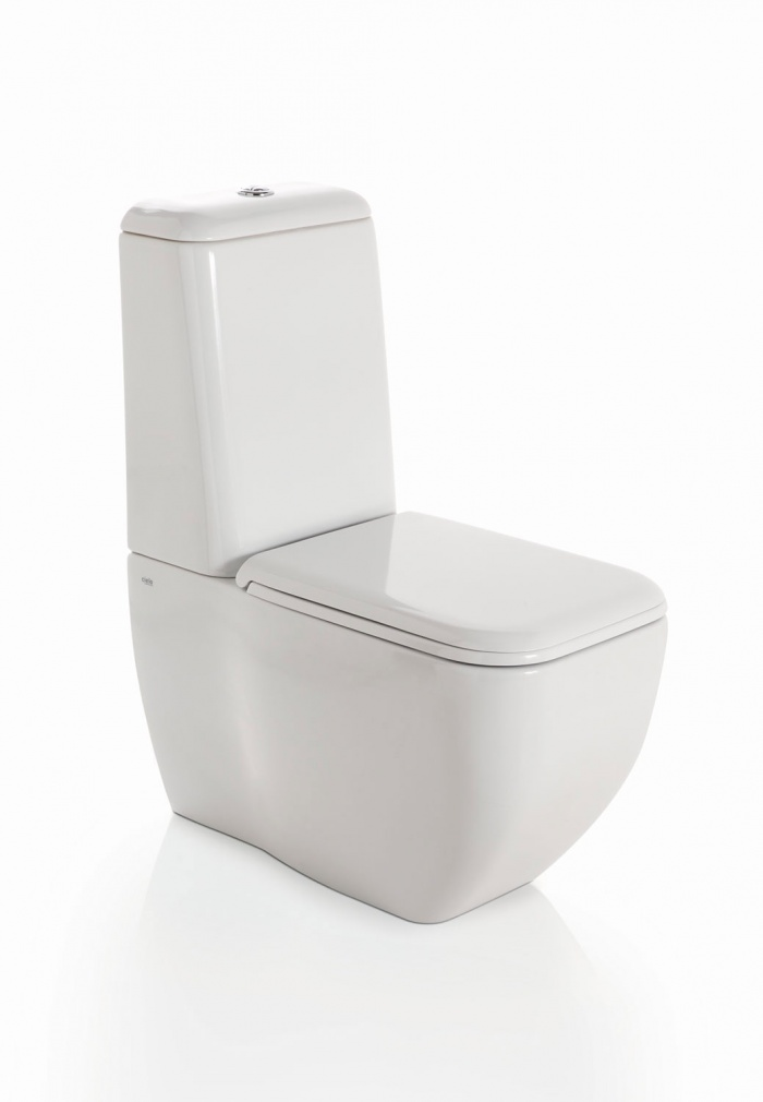 Big monoblock wc - glossy white