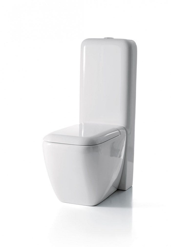 Back to wall wc with cistern - glossy white