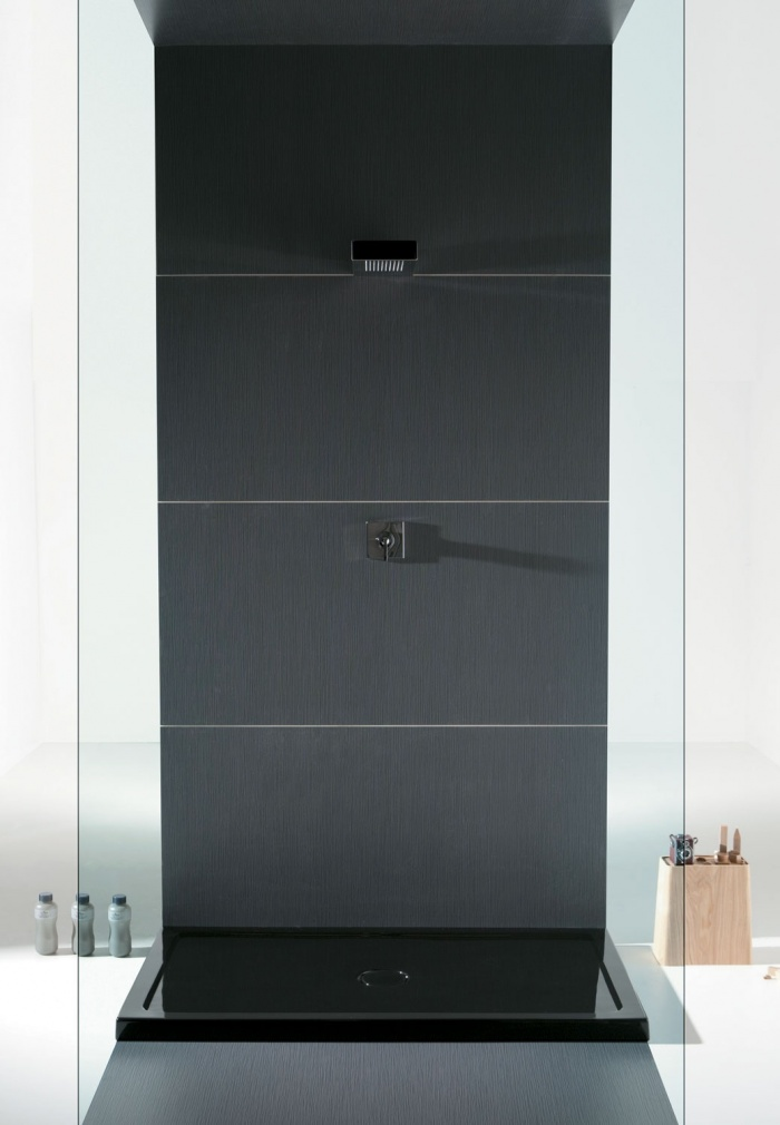 Gloss Black Sessanta shower tray