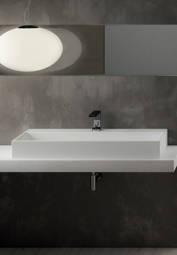 Smile 100 washbasin Talco finishes