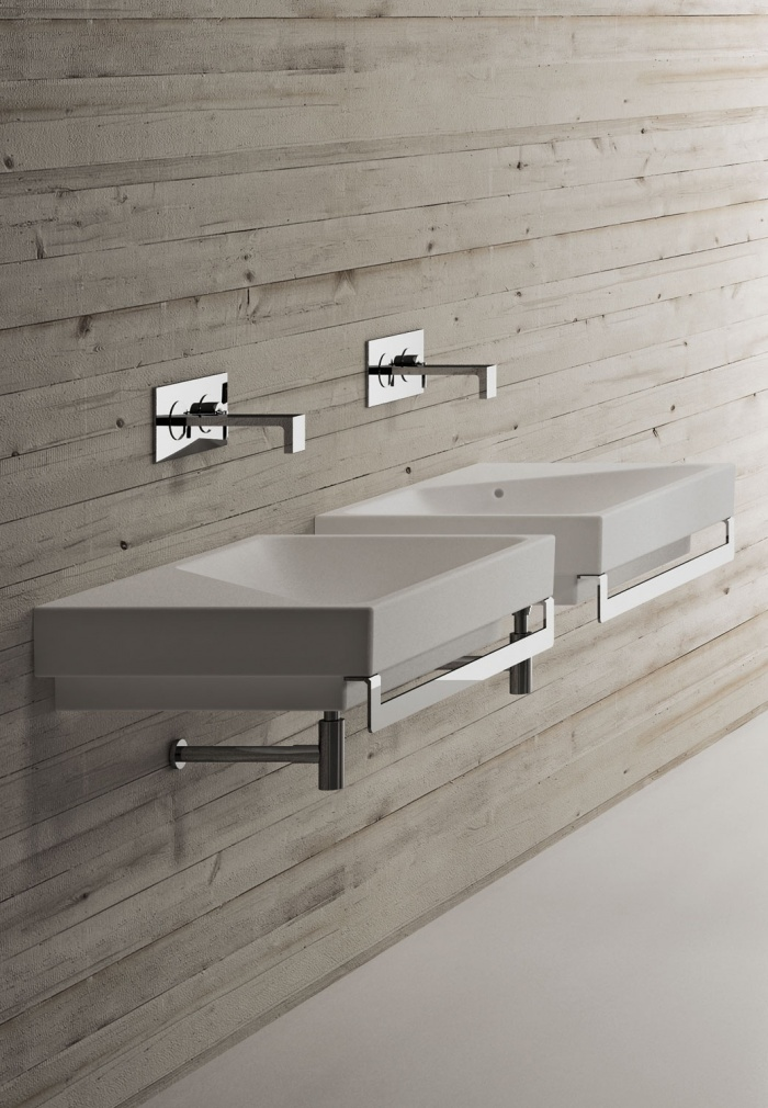 Blink right and left washbasins Talco finishes.